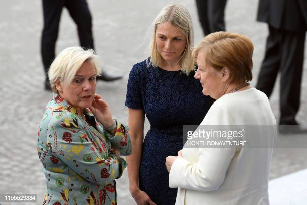 Dutch Defence Minister Ank Bijleveld Denmark's Defence minister Trine Bramsen and Germany's Chancellor Angela Merkel speaks during the annual...