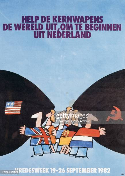 Dutch disarmament campaign poster during the Cold War era 1982