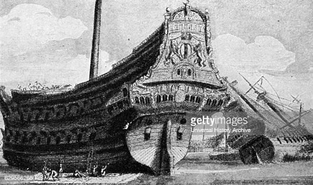 Dutch East India company ship of the 17th Century