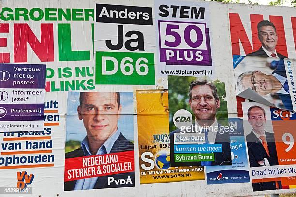 dutch election posters # 4 xxxl - verkiezing stockfoto's en -beelden