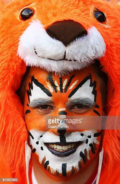 Dutch fan smiles ahead of the UEFA EURO 2008 Group C match between Netherlands and France at Stade de Suisse Wankdorf on June 13, 2008 in Berne,...