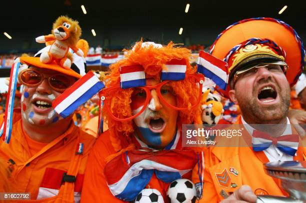 Dutch fans look on prior to the UEFA EURO 2008 Group C match between Netherlands and Romania at Stade de Suisse Wankdorf on June 17 2008 in Berne...