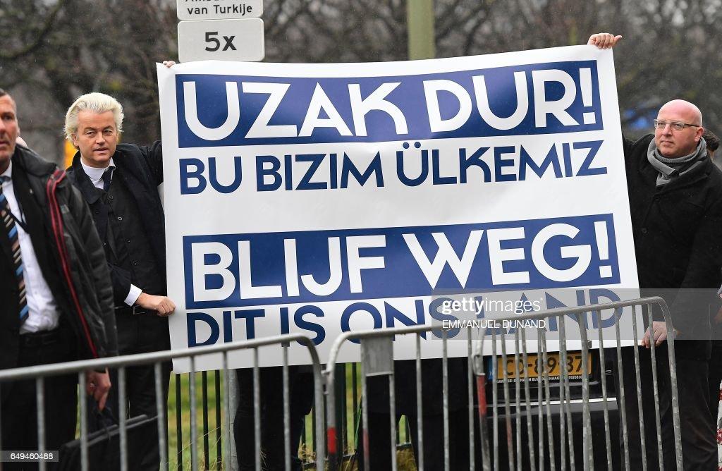 NETHERLANDS-TURKEY-POLITICS-VOTE-FAR-RIGHT-DEMO : ニュース写真