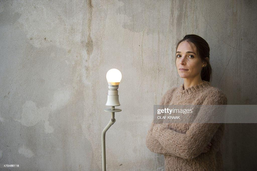 Dutch fashion designer, Nanna van Blaaderen, poses on April