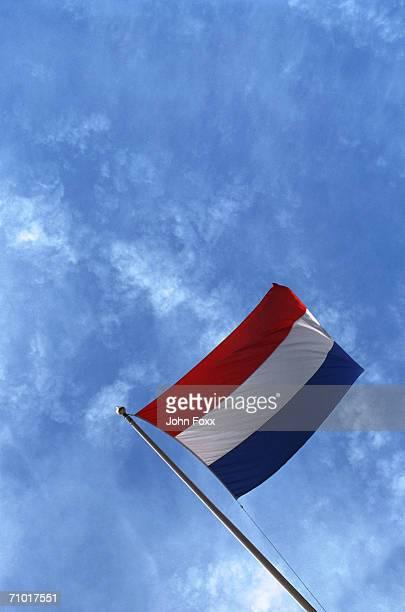 dutch flag - nederlandse vlag stockfoto's en -beelden