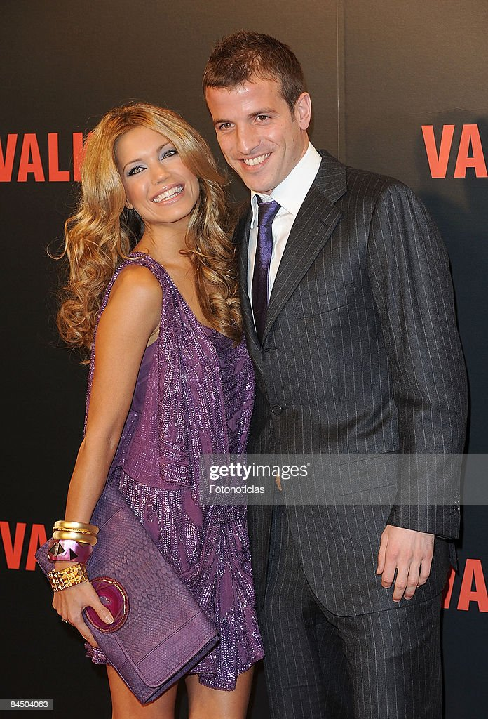 Dutch football player Rafael Van Der Vaart and Sylvie Van Der Vaart attend 'Valkyrie' premiere, at the Teatro Real on January 27, 2009 in Madrid, Spain.