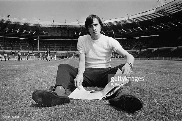 Dutch footballer Johan Cruyff of Dutch team Ajax Amsterdam in Wembley Stadium London UK 1st June 1971