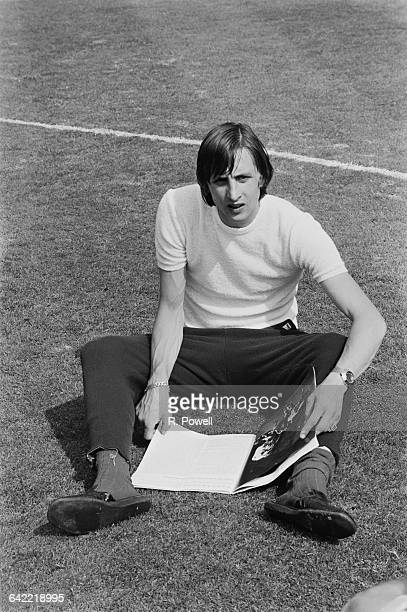 Dutch footballer Johan Cruyff of Dutch team Ajax Amsterdam, in Wembley Stadium, London, UK, 1st June 1971.