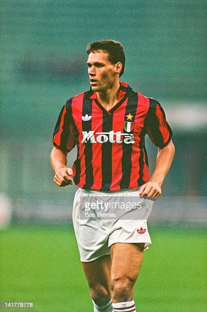 Dutch footballer Marco van Basten of AC Milan October 1992