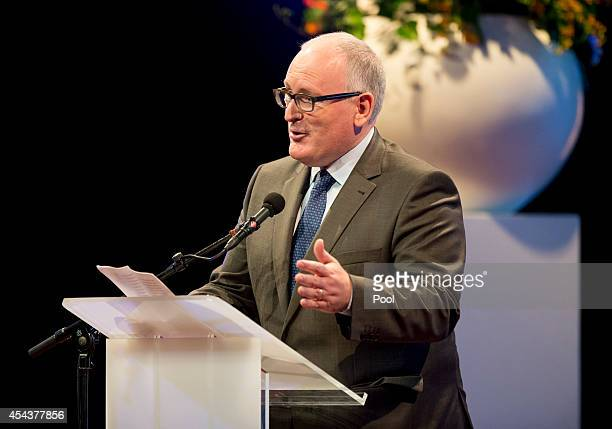 Dutch Foreign Minister Frans Timmermans speaks at the Hello World Reflections on the Netherlands international congress as part of the 200th...