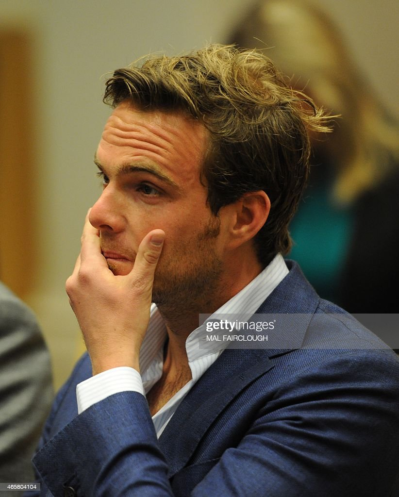 Dutch Formula One driver Giedo van der Garde attends a court hearing in Melbourne on March 11, 2015, which ruled he can drive for Sauber at the season-opening Formula One Grand Prix in Melbourne this weekend. Van der Garde had claimed he was guaranteed a drive for the 2015 season but that the Swiss team reneged on the deal and instead handed births to Sweden's Marcus Ericsson and rookie Brazilian Felipe Nasr. USE