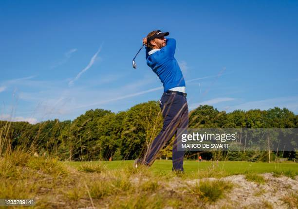 Dutch golf player Joost Luiten plays on the first day of the KLM Open in Cromvoirt, The Netherlands, on September 16, 2021. - The 101st edition of...