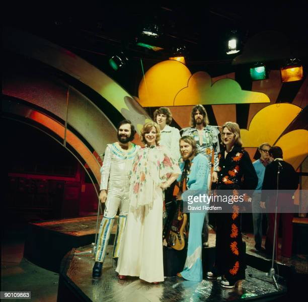 Dutch group and Eurovision Song Contest winners TeachIn on Top of the Pops tv show in March 1975
