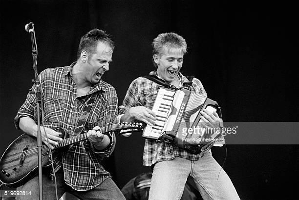 Dutch Group Rowwen Heze, performs at Pinkpop on June 8th 1992 at Landgraaf, Netherlands. ,