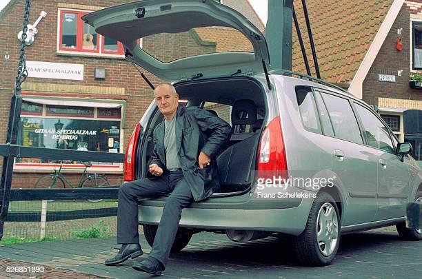 Dutch guitar legend Jan Akkerman poses on November 11th 1999 in Volendam Netherlands