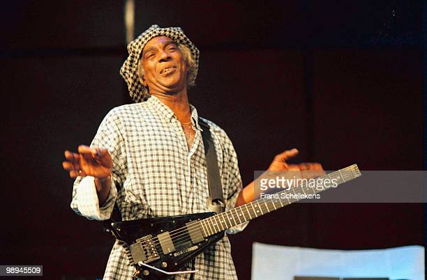 Dutch guitar player Frankie Douglas performs live on stage at Bimhuis in Amsterdam, Netherlands on October 21 2000
