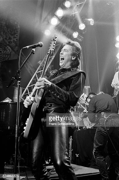 Dutch guitarist George Kooymans performs with the Golden Earring at the Roxy on December 10th 1991 in Amsterdam, the Netherlands.
