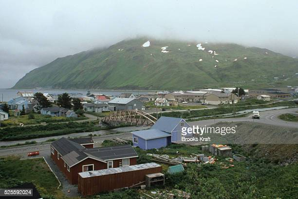 Dutch Harbor in Unalaska Alaska has 10 major docks for fishing fuel and cargo ships It's a waypoint for barge traffic up from Anchorage up the...