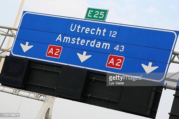 Dutch highway direction sign # 1