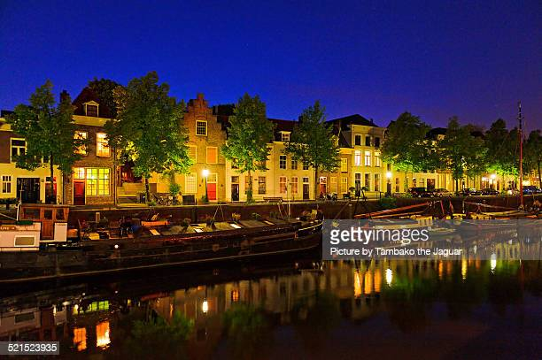 Dutch houses by night