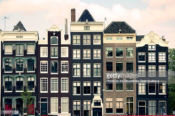 Dutch houses in Amsterdam, Holland