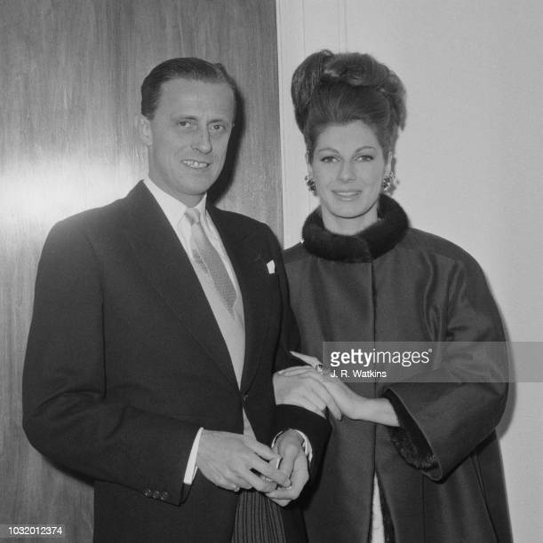 Dutch industrialist and art collector Hans Heinrich Thyssen-Bornemisza with his wife, New Zealand fashion model Fiona Campbell-Walter, UK, 1st April...