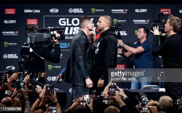 Dutch kickboxer Rico Verhoeven and Moroccan-born kickboxer Badr Hari face each other ahead of the long-awaited rematch between the two kick boxers...