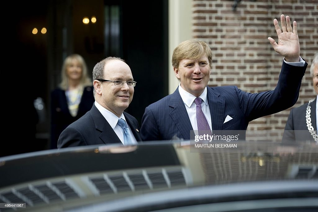 NETHERLANDS-MONACO-ROYALS : News Photo