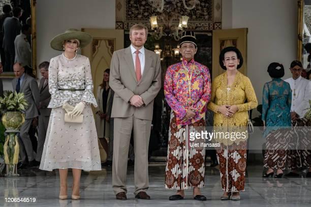 Dutch King Willem-Alexander and Queen Maxima meet with Sri Sultan Hamengkubuwono X and his wife Gusti Kangjeng Ratu Hemas during visit Kraton...
