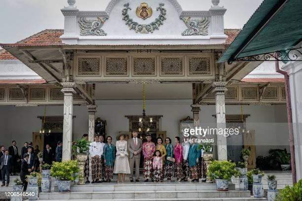 Dutch King Willem-Alexander and Queen Maxima meet with Sri Sultan Hamengkubuwono X and his wife Gusti Kangjeng Ratu Hemas during visit at Kraton...
