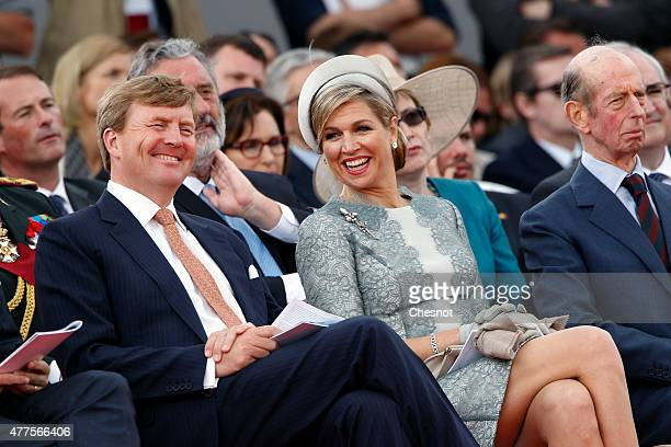 Dutch King WillemAlexander and Queen Maxima of the Netherlands attend the Belgian federal government ceremony to commemorate the bicentenary of the...