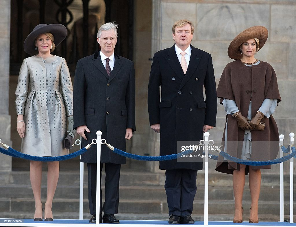 King Willem-Alexander of the Netherlands and King Philippe of Belgium  : News Photo