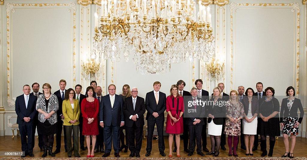 NETHERLANDS-ROYALS-EUROPEAN-PARLIAMENT : News Photo