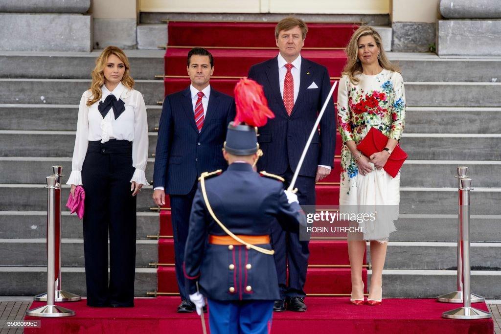 NETHERLANDS-MEXICO-DIPLOMACY-POLITICS-ROYALS : Nieuwsfoto's