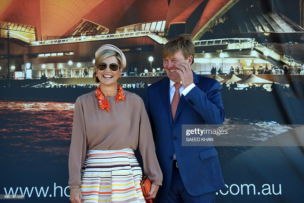 AUSTRALIA-NETHERLANDS-ROYALS : News Photo