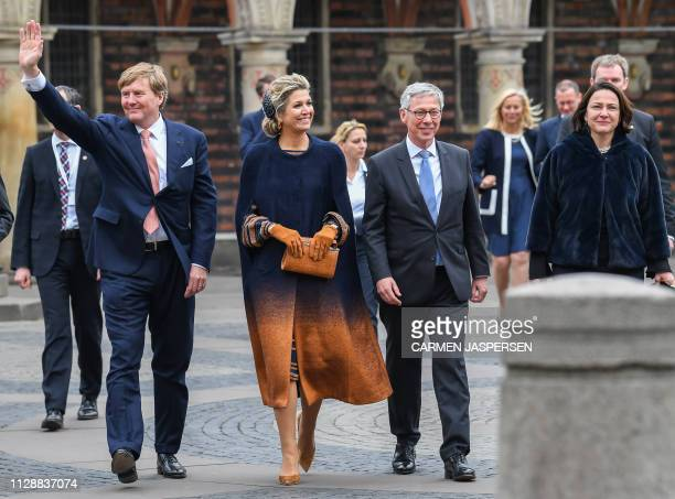Dutch King WillemAlexander and Queen Maxima visit Bremen in northern Germany on February 6 2019 / Germany OUT