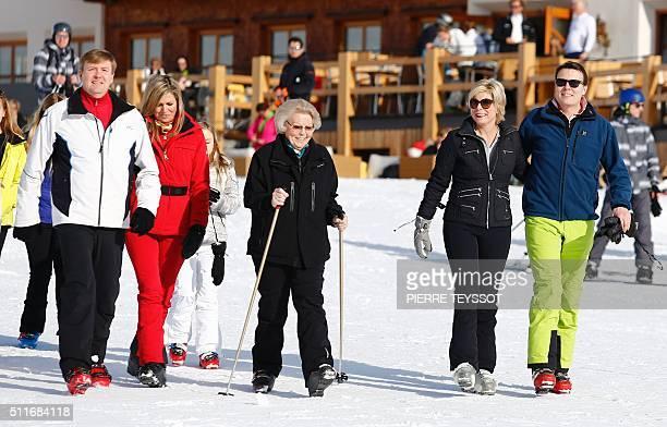 Dutch King WillemAlexander Argentine born Dutch Queen Maxima with Princess Beatrix of The Netherlands Princess Laurentien and Prince Constantijn...