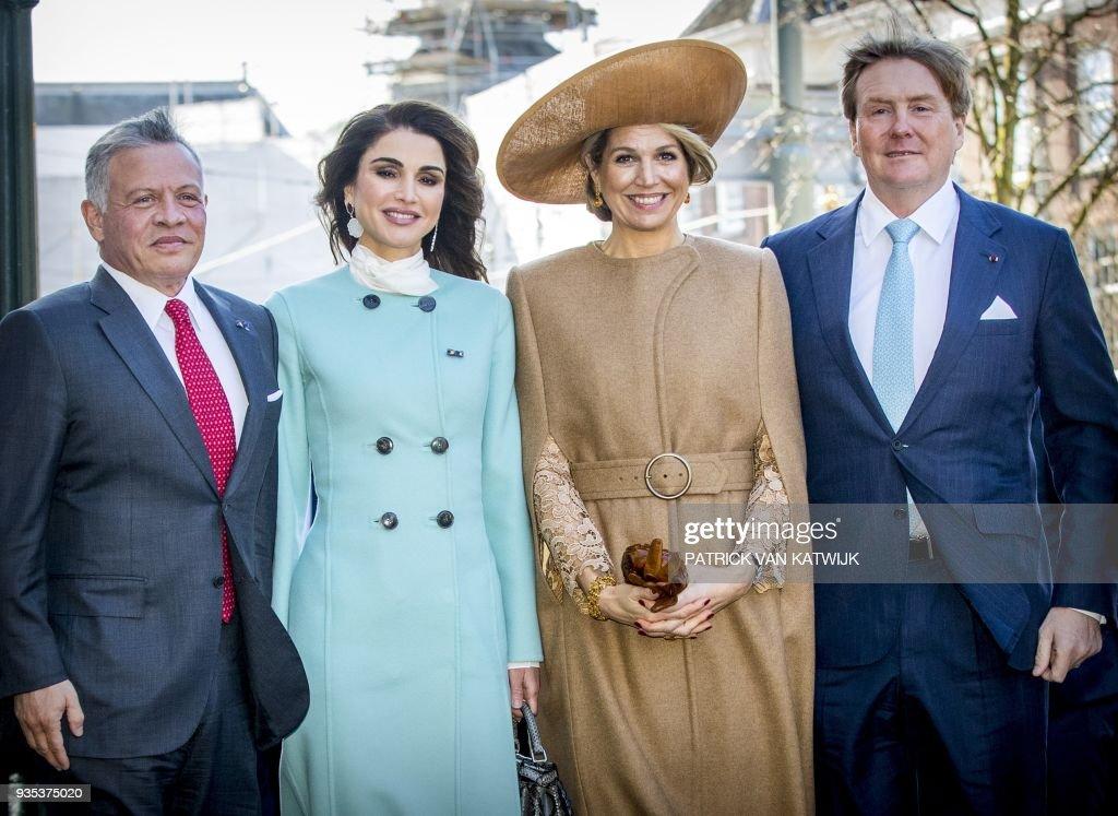 NETHERLANDS-JORDANIA-ROYALS : News Photo