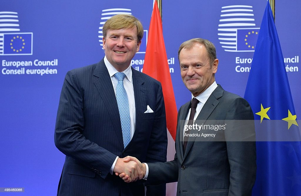 Dutch King Willem-Alexander in Brussels : News Photo