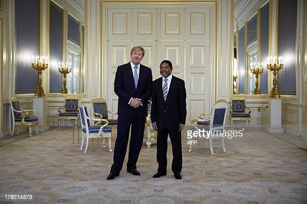 Dutch King Willem-Alexander receives the president of Zanzibar, Ali Mohamed Shein, during an audience at the palace Noordeinde in The Hague, The...