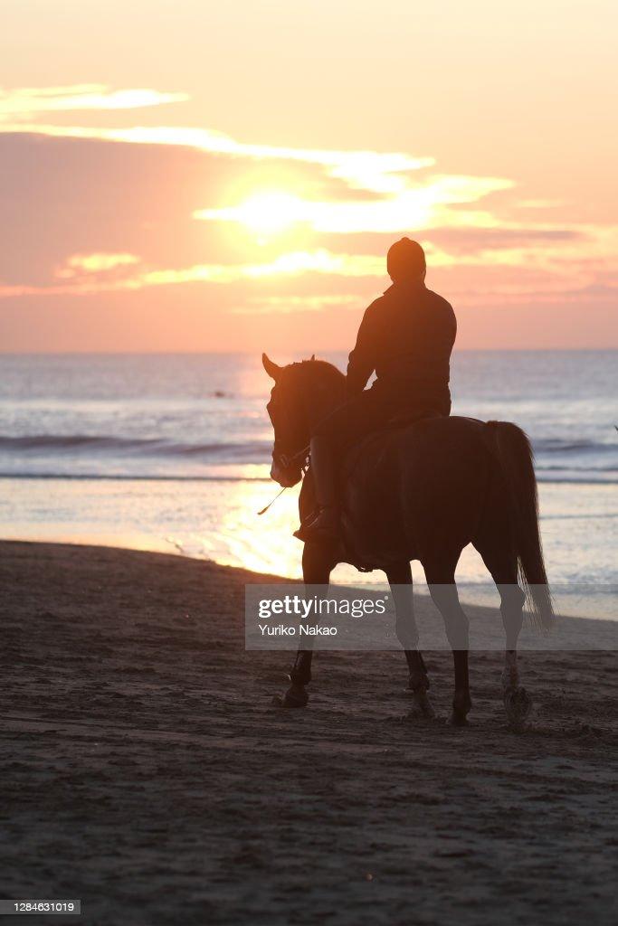 Dutch King Willem-Alexander Rides Horse At Beach : Nieuwsfoto's