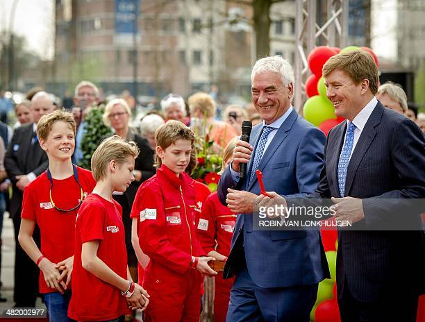 Dutch King WillemAlexander with director BTCTwente Rob de Koning attends the opening ceremony of innovation center the Gallery at Kennispark Twente...