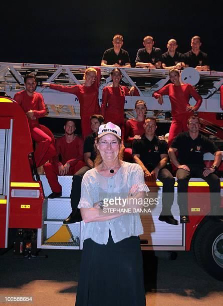 Dutch Krisztina de Chatel poses prior a rehearsal of her ballet La danse des Sapeurs Pompiers on July 2 in Monaco part of the Monaco Dance Forum...