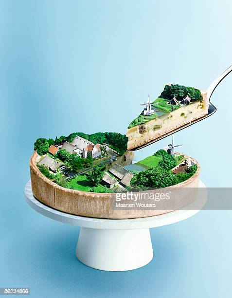 dutch landscape cake