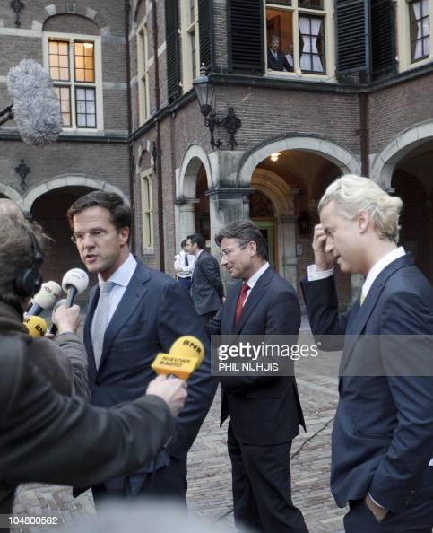Maurits Hendriks Netherlands Prime Minister Mark Rutte L: Dutch Liberals VVD Leader And Prime Minister In Waiting