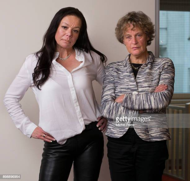 Dutch lung cancer patient Anne Marie van Veen and her criminal lawyer Benedicte Ficq pose while preparing for the first ever criminal case against...