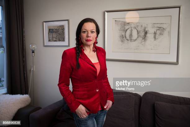 Dutch lung cancer patient Anne Marie van Veen at home while preparing the first ever criminal case against the tobacco industry for murder...