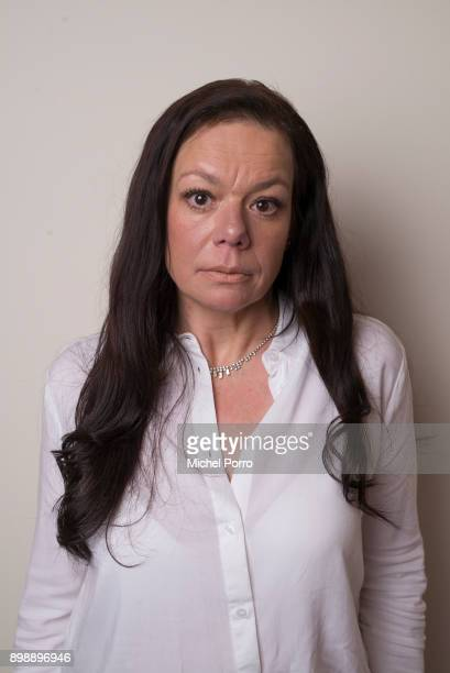 Dutch lung cancer patient Anne Marie van Veen poses at the office of her criminal lawyer Benedicte Ficq in preparation of the first ever criminal...