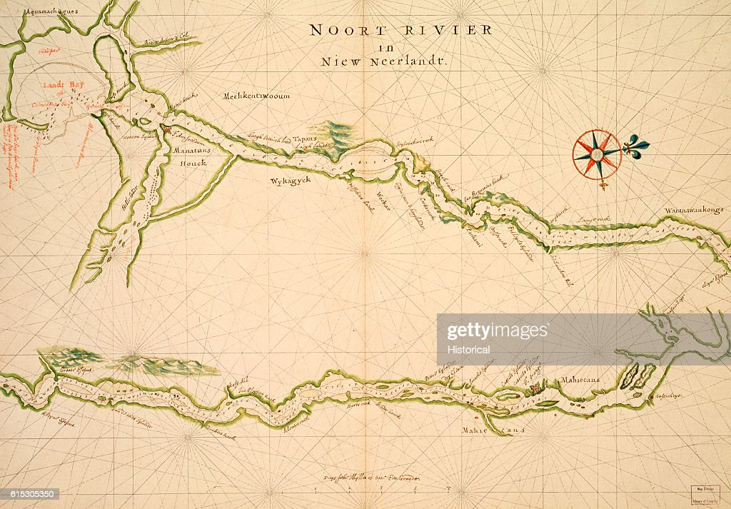 A Dutch map of the Hudson River, when it was part of the ...