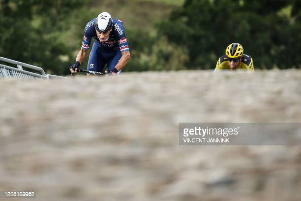 Dutch Mathieu van der Poel competes during the Dutch Cycling Championships in Wijster on August 23 2020 / Netherlands OUT